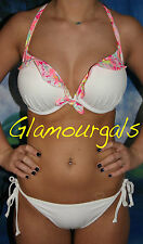 New Victorias Secret Bombshell Gorgeous Ruffle Push Up Bikini Sz 32DD Small