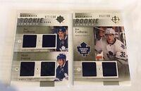 2011-12 Upper Deck Ultimate JOE COLBORNE Rookie Jerseys Lot (2) Maple Leafs 100