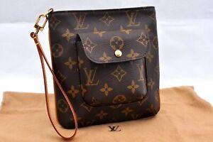 Authentic Louis Vuitton Monogram Partition Clutch Bag M51901 LV A0535