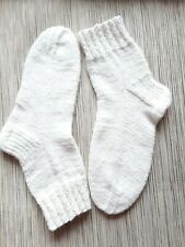 Wool socks hand knitted, new, soft , light 38- 40 size,