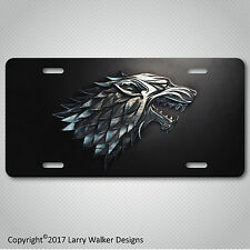 House Stark Game of Thrones Aluminum License Plate Tag New