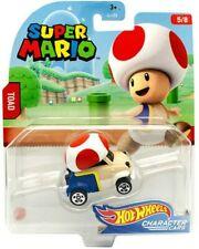 🔥Hot Wheels SUPER MARIO Character Cars TOAD 5/8 Die-Cast Car Nintendo Mattel
