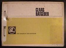 Claas Ratgeber Mähdrescher Das Handbuch des Monteurs