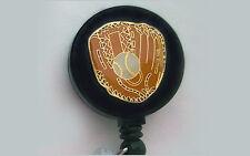 BASEBALL Retractable Reel ID Card Badge Holder/Key Chain Ring/Glove Softball