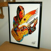 Michael Hedges Harp Guitar Player New Age Rock Music Poster Print Wall Art 18x24