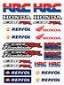 Repsol HRC CBR Motorbike Racing Decal Sheet Set 30 stickers CBR600RR CBR1000RR