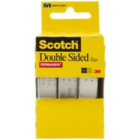 """Double Sided Tape 1/2""""x250"""" - Scotch Permanent 12 x 250 3 Double 3pack 3136"""