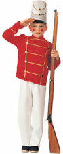 Wooden Toy Soldier Christmas Costume Halloween Uniform Child Boys Small 4-6 NEW
