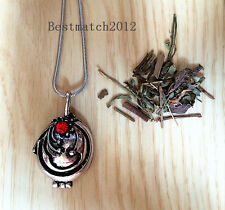 The Vampire Diaries Elena Vervain Pendant Necklace with Vervain Filled