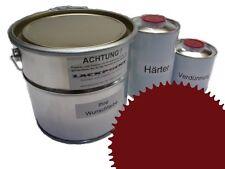 3 Litres Set 2K Revêtement de sol RAL 3004 Pourpre Glanz Peinture de sol Atelier