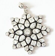 Gorgeous star shaped pendant in white stones jewelry on sale !!