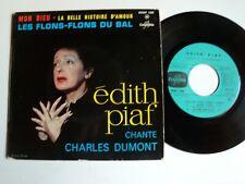 "EDITH PIAF chante CHARLES DUMONT : Mon Dieu 7"" EP COLUMBIA ESRF 1305 Chauvigny"