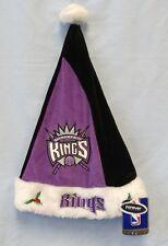 SACRAMENTO KINGS NBA PLUSH EMBROIDERED SANTA HAT XMAS FREE SHIPPING