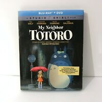 My Neighbor Totoro Blu-ray & DVD 2-Disc Set w/ Slipcover! Hayao Miyazaki Classic