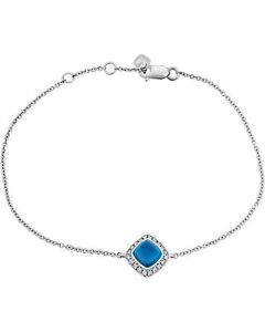 Fred Of Paris 18k Gold Diamond 0.1ct Topaz Pain De Sucre Bracelet 6B0238-000