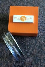 NEW David Tishbi Hand Crafted Sterling Bangle Size Medium