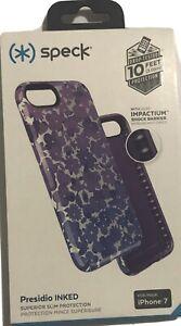 Speck Presidio Inked Case for iPhone 8/7/SE 2nd Watercolor Purple/Purple #5759