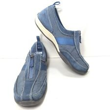 Women's Land's End Blue Zip Up Sneakers Tennis Shoes Size 6 B