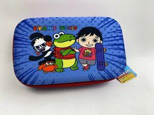 RYAN'S WORLD Molded Pencil Case TOOL BOX Zip Around Combo PANDA Gus Gator School
