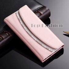 Bling Strass Hülle für Samsung Handy Tasche Schutz Glitzer Flip Wallet Case Etui