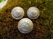3 Anciens petits boutons RF en aluminium