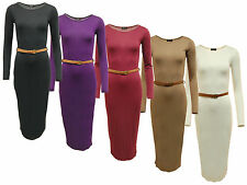 Jersey Patternless Stretch, Bodycon Dresses for Women