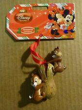 Rare Disney Store Sketchbook Chip 'n' Dale Open Peanut Christmas Ornament