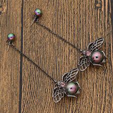 1 Pair Vintage Black Bee Earrings Dangle Drop Pearl  Charms Womens Lovely Gift