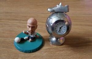 Ferdinand Big Headed Footballer & Football Boot Stainless Steel Small Clock