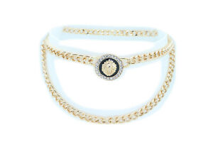 Women Christmas Fashion Hot Belt Gold Metal Chain Lion Charm Plus Size XL XXL