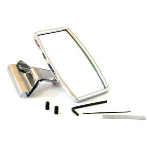 RECTANGULAR CLIP CLAMP ON OVERTAKING STAINLESS MIRROR HOTROD MG MGB MIDGET GT