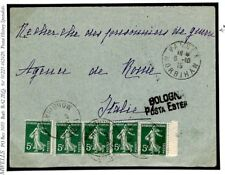 FRANCE WW1 Cover Vannes Italy *RUSSIAN POW AGENCY* 1915 {samwells-covers}F288