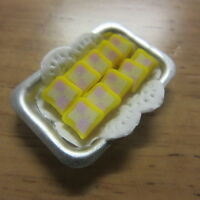1/12 scale Dolls House Food  Tray of Sliced Battenberg Cake   S19