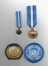 UNITED NATIONS FULL SIZE & MIN MEDALS FOR CYPRUS, OFFICERS BERET & SLEEVE BADGES