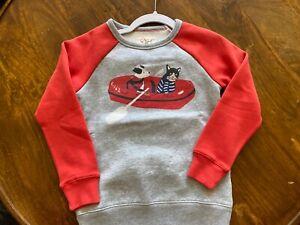 Mini Boden boys Sweatshirt T-shirt 6-7 NIP