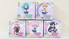 Sailor Moon Atsumete figure for girls 3 & 4 Set Black Lady Uranus Pluto Neptune