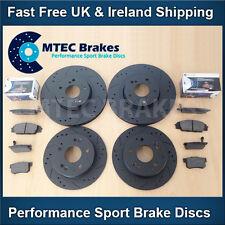 Golf 1.8T 1.9TDi 2.3 V5mk4 Front Rear DrilledGrooved Black Brake Discs MTEC Pads
