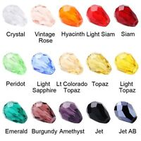 New 10-100Pcs Teardrop Czech Drop Faceted DIY Glass Crystal Loose Spacer Beads