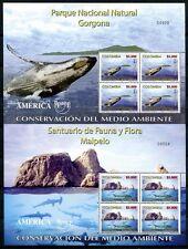 Kolumbien Colombia 2004 UPAEP Wal Hai Umweltschutz Kleinbögen 2356-57 Postfrisch