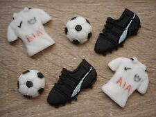 Edible football cupcake / cake toppers for Tottenham fan
