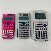Lot 3- Casio FX-9750G Plus FX-115ES FX-300ES Plus Graphing Scientific Calculator