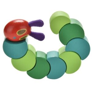 Cute The Very Hungry Caterpillar Toy Flexible Wooden Block for Baby Finger Toy