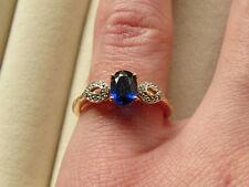 Rare Sundar Kyanite & Diamond 10K Yellow Gold Ring Size N-O/7