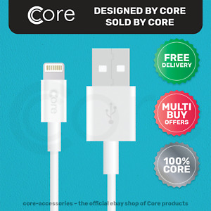 1m 8-Pin to USB Charger Cable For Apple iPhone 7 7S 8 8S X XS 11 White CORE