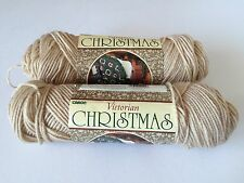2 New Skeins Of Caron Victorian Christmas 0991 Lace Ww Acrylic