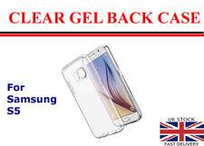 For Samsung Galaxy S5 Clear Gel Thin TPU Back Gel Case Cover Skin