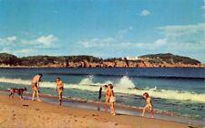 INCONISH CAPE BRETON ISLAND NOVA SCOTIA CANADA-THE BEACH POSTCARD 1959 PSTMK