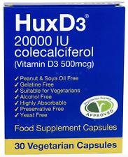 HuxD3 20,000IU Vitamin Food Supplement, Suitable For Vegetarians, Halal & Kosher