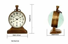 2 inch size antique look brass Table clock,excellent desk clock