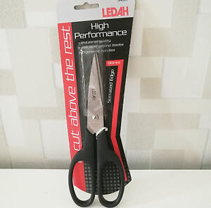 LEDAH High Performance Industrial Quality Serrated Edge Scissors 180mm